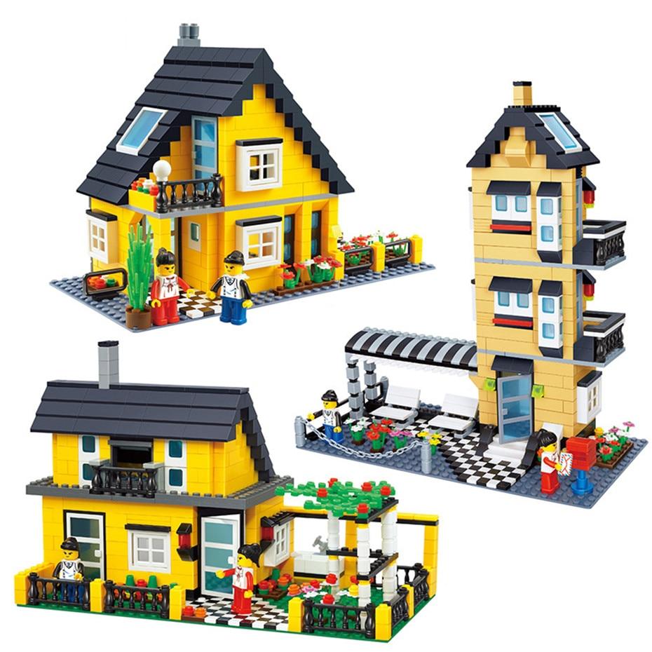 MEOA 32051/32052/32053 New City Creator Series Village Garden Villa Building Blocks Bricks Coutry House Model Educational Toys