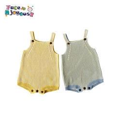 Вязаная одежда для малышей трикотажные детские комбинезоны для мальчиков и девочек новорожденных комбинезоны спецодежда для маленьких