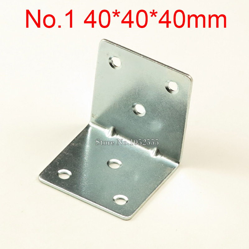 10PCS 40*40*40mm furniture metal corners angle bracket L shape frame board support fastening fittings K268 40
