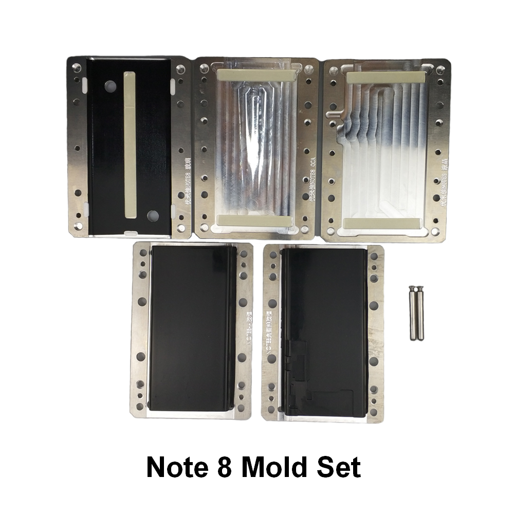 YMJ Note8 Mold Unbent Flex Cable Mold for Samsung Note 8 OCA Glass Vacuum Laminating mould SetYMJ Note8 Mold Unbent Flex Cable Mold for Samsung Note 8 OCA Glass Vacuum Laminating mould Set