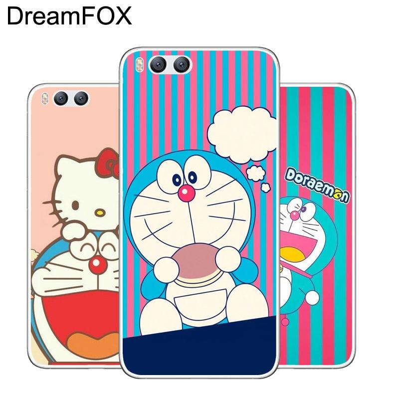 DREAMFOX L429 Fashion Cute Doraemon Soft TPU Silicone Case Cover For Xiaomi Mi Note 2 3 4 5 6 M5 4C 4S 5C 5S 5X 6X A1 Plus