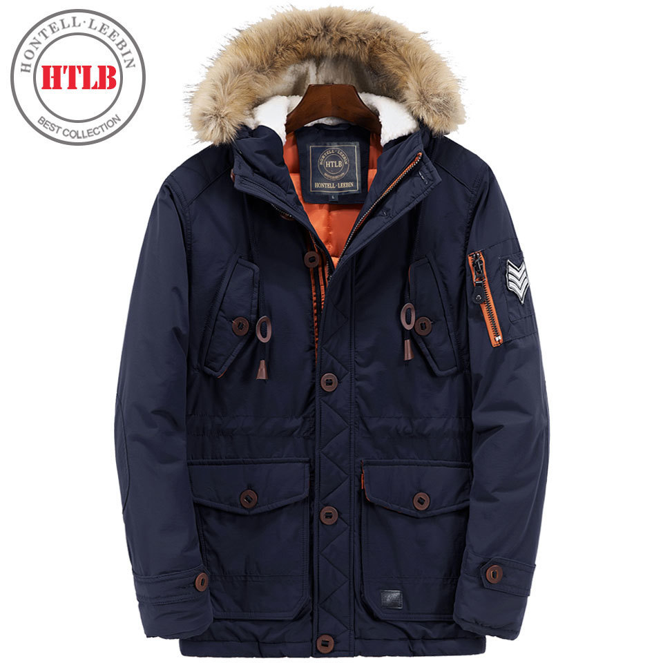 Подробнее о HTLB 2017 New Winter Coats Parkas Jacket Men Hooded Long Thick Warm Windproof Fur Collar Men's Down Jacket Parkas Outwear Male winter jacket men coats thick warm casual fur collar winter windproof hooded outwear men outwear parkas brand new