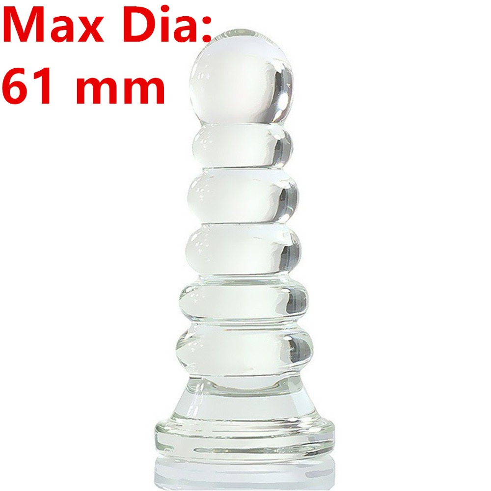 Large Huge Glass Dildos Penis Anal Beads Butt Plug Anus Stimulator Expandable In Adult Games , Erotic Sex Toys For WomenAnd Men new big fake dildos large anal butt plug convex design artificial penis vagina stimulate erotic sex toys anus massage for women