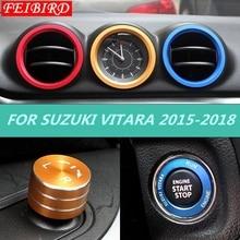 Для Suzuki Vitara Escudo 2015-2019 АБС автомобильный Стайлинг Кондиционер выходное отверстие кольцо Крышка отделка красный синий карбоновое волокно