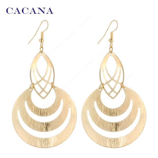 CACANA Dangle Long Earrings For Women Hollow Fashion Bijouterie Hot Sale No.A123