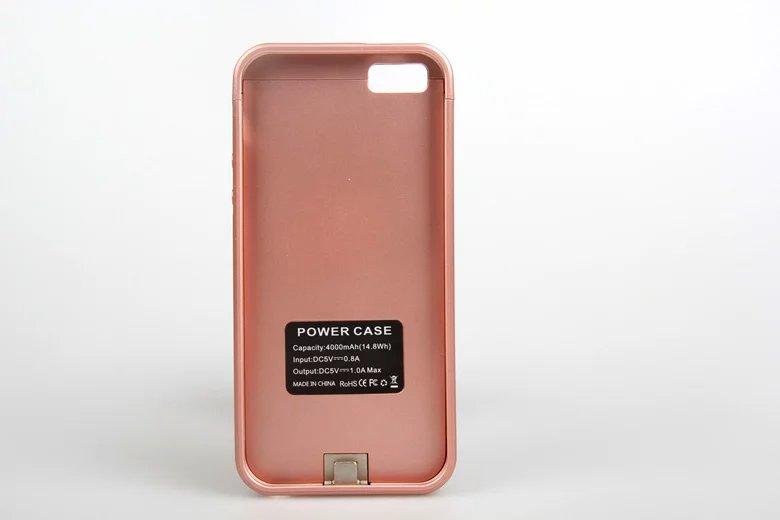 imágenes para Para iphone5 5S Caja de Batería 4000 mah Banco de la Energía Caja de Batería de Reserva Externa Del Cargador de Batería