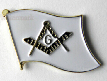 High quality FREE MASONS EMBLEM MASONIC MASON FLAG LOGO LAPEL PIN BADGE cheap custom metal badges 3d lapel pin in Badges from Home Garden