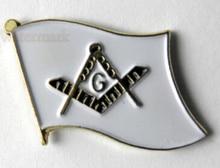 High quality FREE MASONS EMBLEM MASONIC MASON FLAG LOGO LAPEL PIN BADGE  FH680018