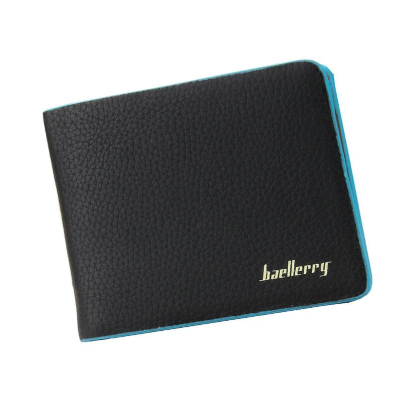 Mannen Portefeuille Trifold Men Wallet Embossed Leather Short Standard Wallet For Men Bifold Business ID Card Holder Purse Brand