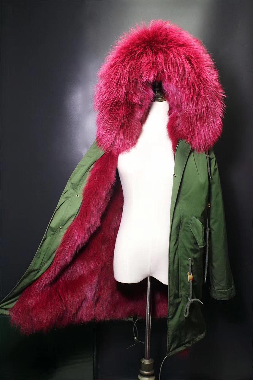 oftbuy 2017 водонепроницаемый длинные парки зимняя куртка женская парка пальто с натуральным мехом енота меховым воротником толстые теплые лисий мех лайнер