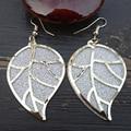 Nueva llegada deja cristalino de la forma de pendientes chapado en oro pendientes de gota largos para mujeres accesorios de boda