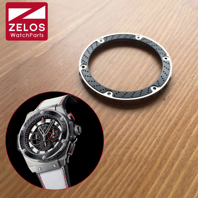 high quality 3 in 1 carbon fibre watch bezel isnert for HUB king power 48mm F1 automatic watch case 703.ZM.1123.NR.FMO10