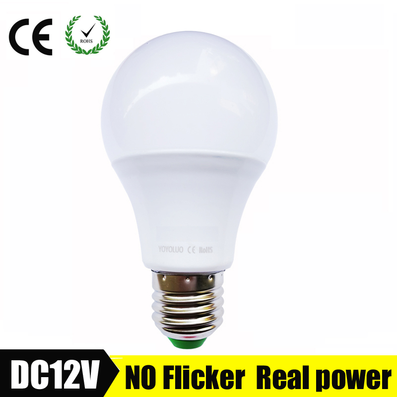E27 LED Bulb Lights 3W 6W DC 12V Led Lamp 9W 12W 15W Energy Saving Lampada 12 Volts Led Light Bulbs for Outdoor Lighting Кубок