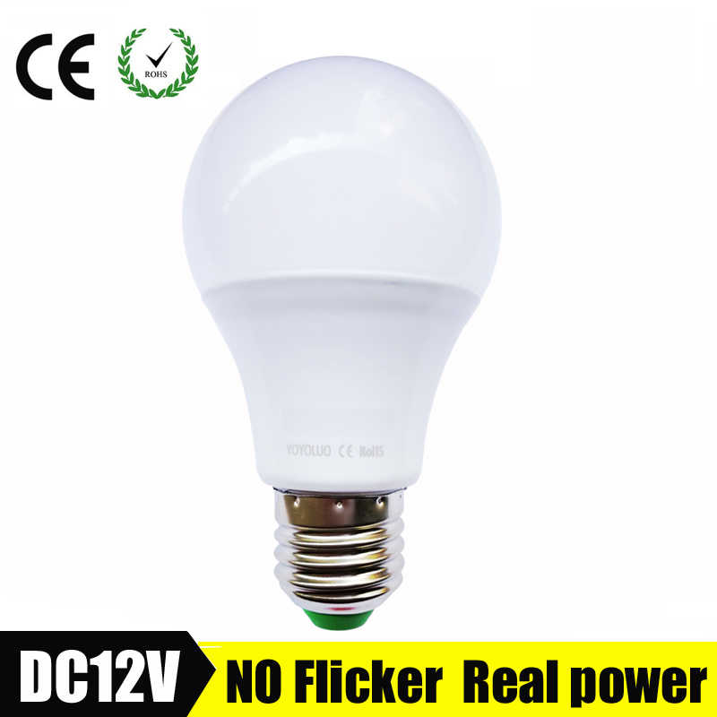 E27 светодиодный светильник 3 Вт 6 Вт DC 12 В 24 в 36 В светодиодный светильник AC 9 Вт 12 Вт энергосберегающая лампада 12 Вольт Светодиодный светильник для наружного освещения