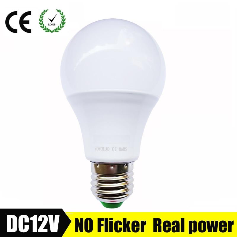 E27 светодиодные лампы 3 Вт 6 Вт DC 12 В светодиодные лампы 9 Вт 12 Вт 15 Вт энергии экономия лампада 12 вольт светодиодные Лампочки для Наружное освещение