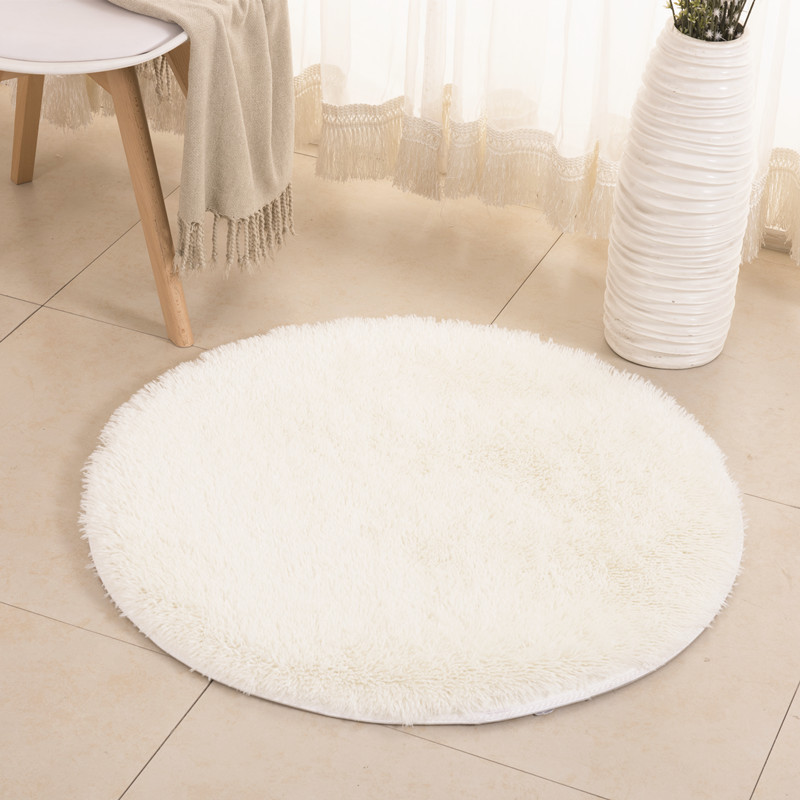Yoga Living Room Carpet Kids Room Rugs Soft and Fluffy Warm black Red Color Custom Size Diameter 60 80 120 140 160 200cm in Carpet from Home Garden