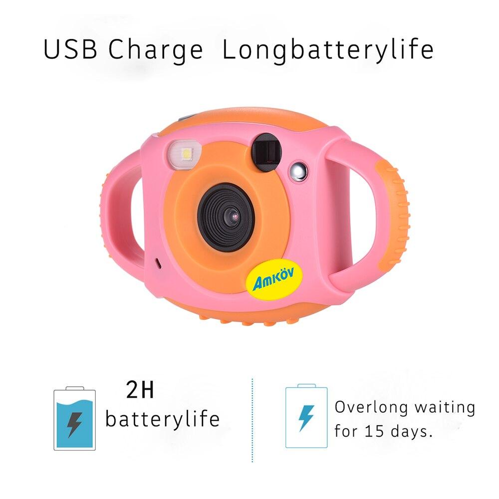 Amkov Cute Digital Video Camera Max. 5 Mega Pixels Built-in Lithium Battery Gift New Year Present for Kids Children Boys Girls