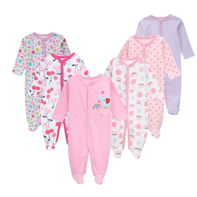 6Pcs/set Fashion Cotton baby rompers newborn girl clothes Lo