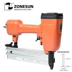 ZONESUN Pneumatic Air Stapler Gun Stapler Nail Gun Stapling Machine For Furniture Woodworking Carpentry Decoration Carpenter50mm