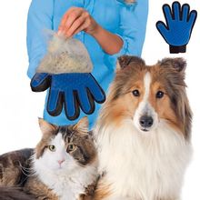 Silicone Hair Remover Grooming Dog Gloves Brush Shedding Pet Groomer Accessories Rubber Massage Brush For Dog Gloves Cat Comb pet cleaning supplies massage to float hair printing gloves white cat dog hair bathing beauty gloves dog silicone comb gloves