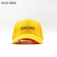 Amazing Letter Baseball Cap Men Women Outdoor Hat Unisex Black White Pink Blue Yellow