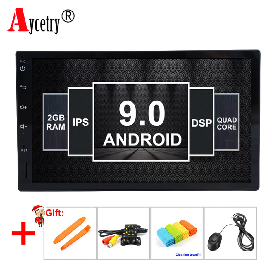 Aycetry DSP IPS 2 Din Android 9 0 Universal Car Multimedia player dvd GPS For VW