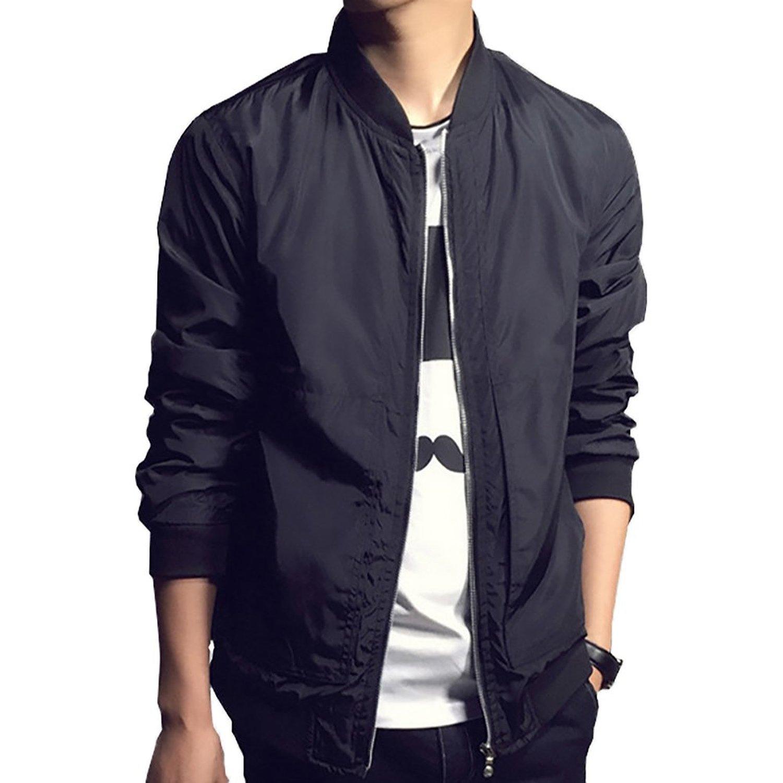 Bomber Jacket Men 2017 Autumn Men's Jackets Solid Fashion Coats ...