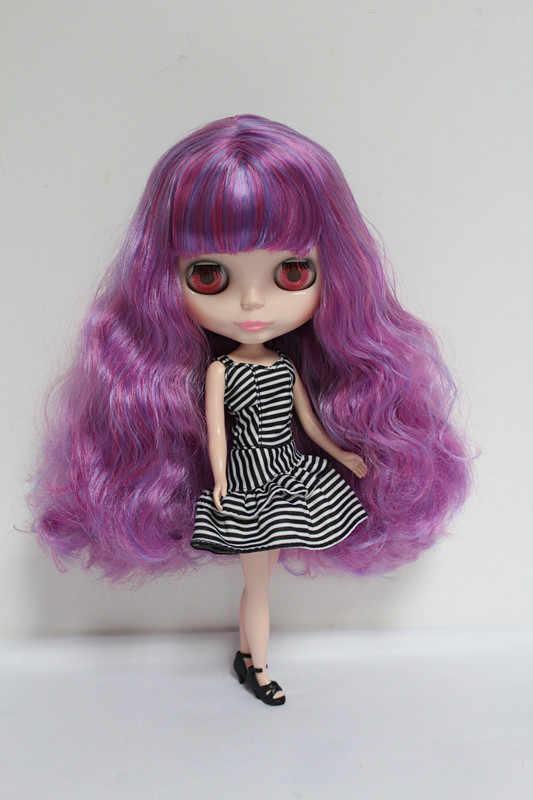 O Envio gratuito de big desconto RBL-43DIY Nude Blyth boneca de presente de aniversário para menina 4 cores grandes olhos bonecas com Cabelo bonito brinquedo bonito