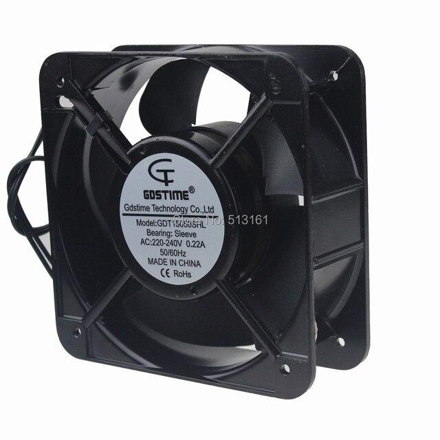 1 Pieza Gdstime AC 220 V 240 V 150mm Ventilador 15 cm 15050 150x150x50mm Ventiladores de Refrigeración Industrial