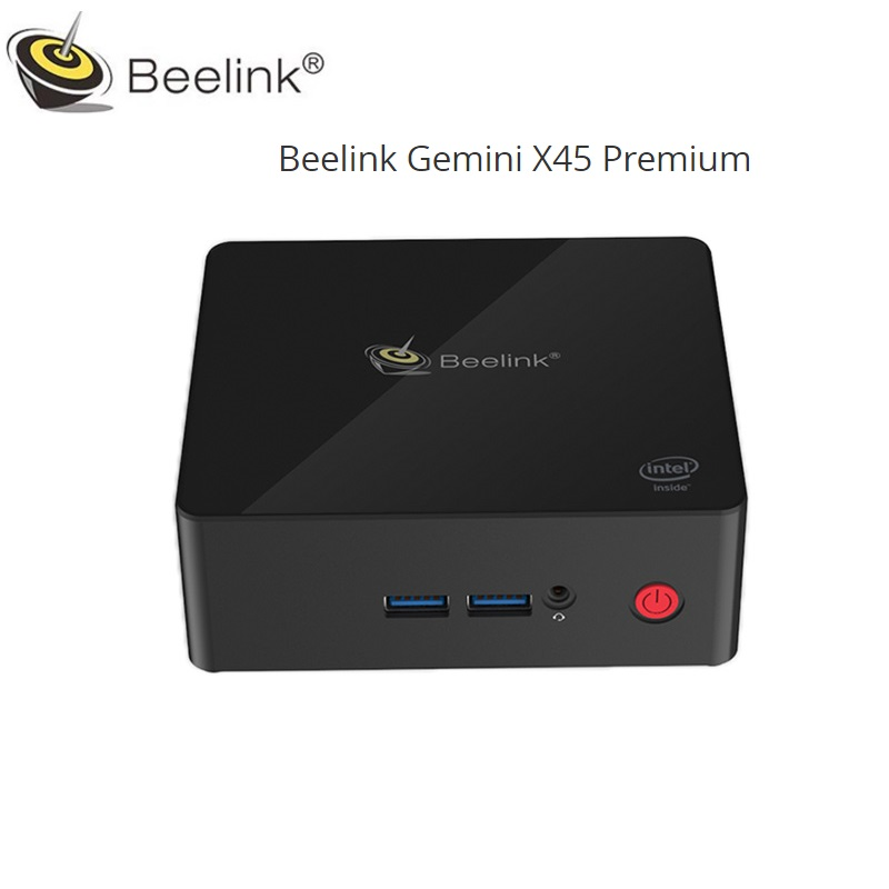 Beelink Близнецы X45 Premium Mini PC Windows 10 Intel J4105 6 ГБ DDR4 128 ГБ mSATA расширяемый HDD Wi-Fi 1000 Мбит LAN Bluetooth