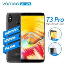 """Vernee T3 Pro 5.5"""" Full Screen Smartphone 3GB RAM 16GB ROM Mobile Phone Android 8.1 MTK6739 Quad-core 4080mAh 4G LTE Cellphone"""
