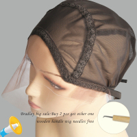 Hairnet lace front wig cap for making wigs with adjustable strap glueless weaving cap more color.jpg 200x200