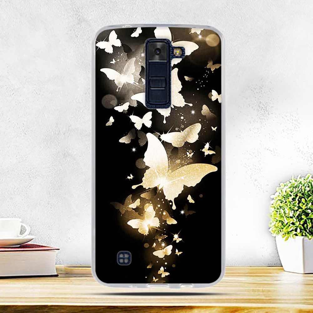 """Caso Molle di Tpu 3D Copertura Sollievo per LG K8 Lte K350 K350E K350N 5.0 """"K 8 Posteriore Del Telefono Del Silicone copertura per LG K7 K10 Leon Spirito X Alimentazione"""