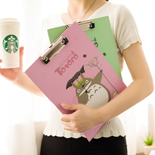 30x21cm cute cartoon cat animal totoro papers writing file mat drawing folder clip board clipboard a4  for school office tool