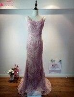 Настоящее платье цвета — красный, синий, Черный Шампанское Вечерние платья с жемчугом длинные Straght Кружева Формальное вечернее платье 100% же