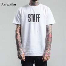 Summer white street loose Style Solid T-shirt Youth skateboard Punk Hip Hop Men's Short Sleeve harajuku Tee shirt Homme