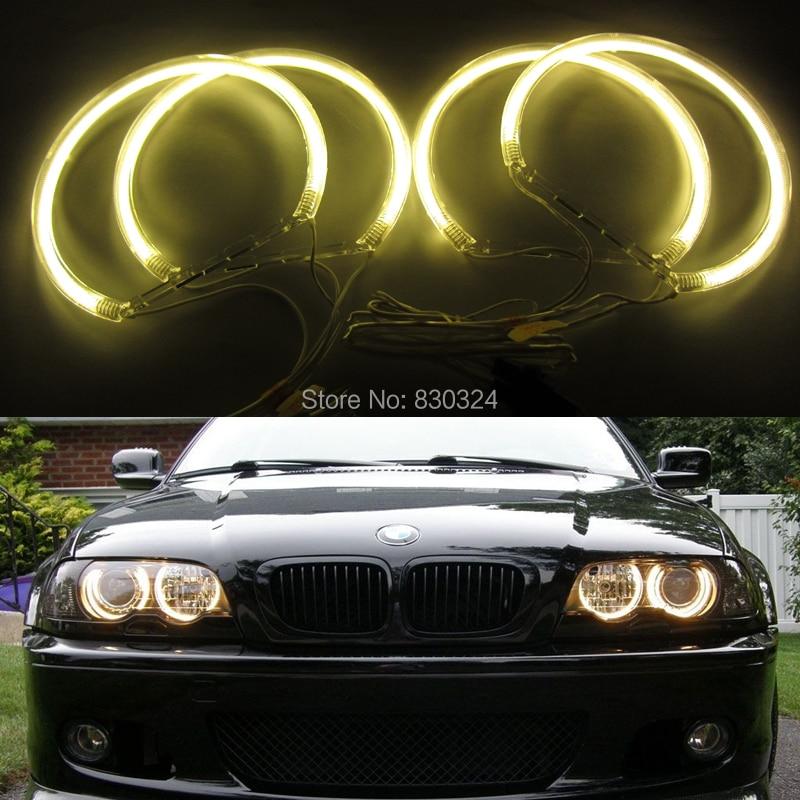3000k yellow halo ring for bmw e46 e39 e38 e36 ccfl angel. Black Bedroom Furniture Sets. Home Design Ideas
