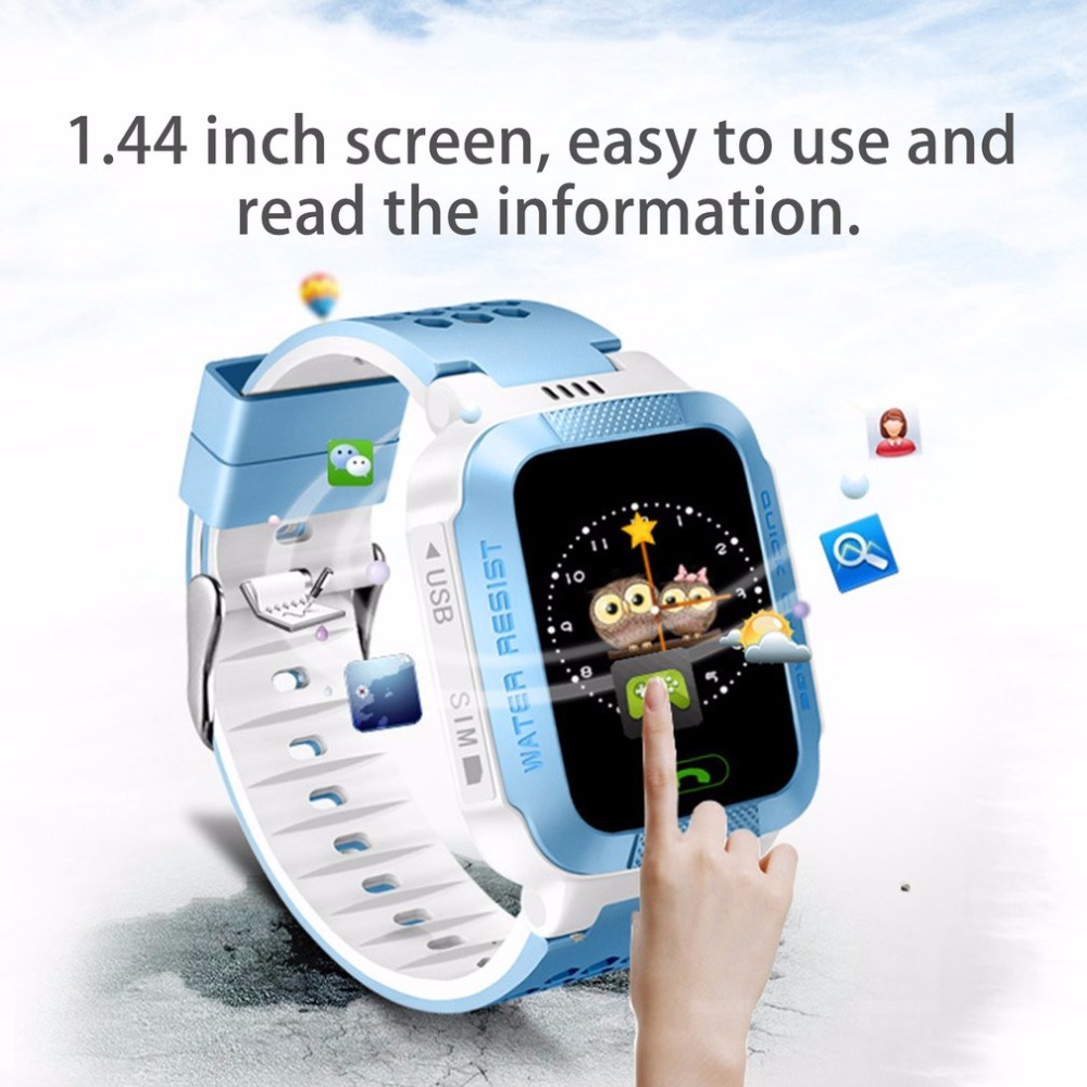 Anti-lost Colorful Screen Y21S Smart Wrist Watch Phone Children GPS Tracker SOS Call Camera Flashlight For Android
