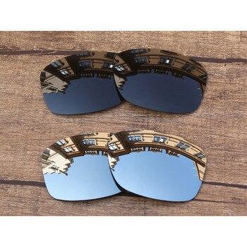 82070b594e Vonxyz 2 pares Stealth negro y cromo de policarbonato espejo de lentes de  recambio para Oakley
