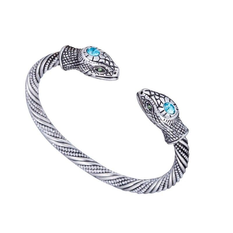 2b7d811518c2 Cheap 2019 Punk joyas antiguas de plata oro Viking brazalete vikingo  serpiente amuleto pulsera de
