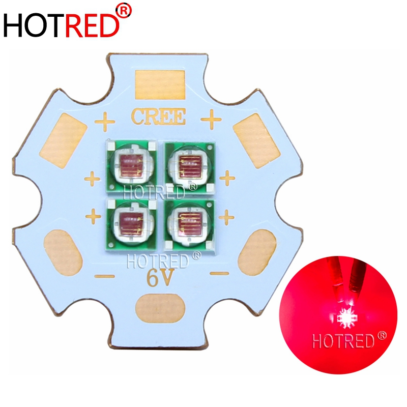 10W Deep Red 660nm 3535 Epiled 2V 4V 6V Replace CREE XPE Emitter Bulb Multi-chip Plant Grow LED Diode Array With 20mm Copper PCB