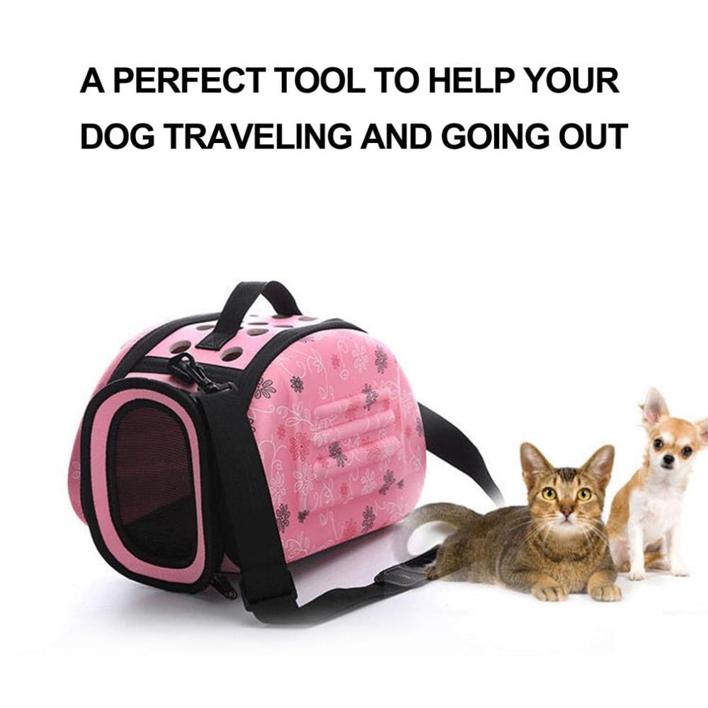 High Quality Soft EVA Portable Foldable Travel Shoulder Pet Bag Breathable Outdoor Carrier Pet Bag Dog Bag Cat Carrie S/M/L Size
