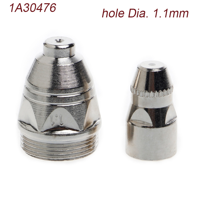 10Pcs P-80 Plasma Cutting Torch Nozzle Tip 1.1/1.3/1.5/1.7mm+10pcs Electrode trafimet a141 a140 high frequency air cooled plasma torch nozzle 10pcs electrode 10pcs 140 a