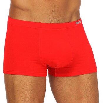 ORLVS Brand 50PC/LOT Wholesale Comfortable Underwear Men Boxers Breathable Cotton Quick Dry Mesh Men Boxers Cueca Underpants