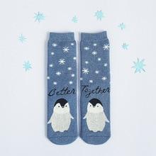 2017 New Harajuku Cute Cartoon Animal Bear Penguin Pattern Cotton Women Socks Japanese Thick Warm Funny Novelty Easter Kawaii