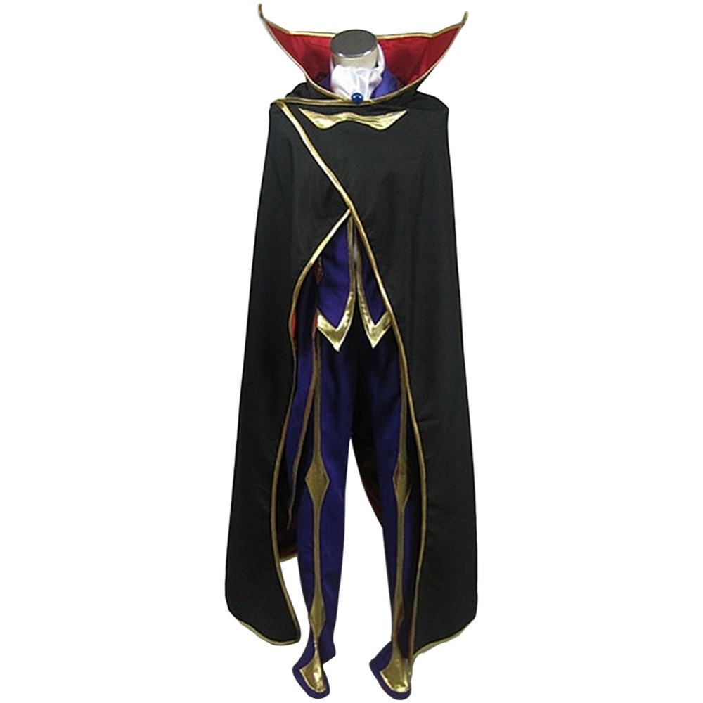 Code Geass Lelouch cosplay costume Lelouch of the Rebellion Zero Cosplay Costume Outfit For Adult Men Women