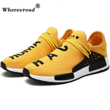 2018 wheresroad Human Race Yellow Casual Shoes Men's Comfortable Fashion Sneakers Light Summer Spring Man Ultra Boosts size39-47