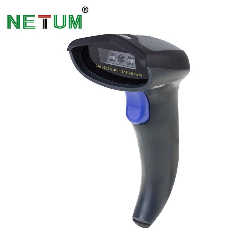 Netum W6 Беспроводной CCD сканер штрих-кода (2.4 ГГц Беспроводной & USB2.0 проводной) для мобильных Экран оплаты