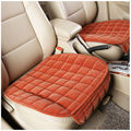TS15 Universal 3 Pcs Car Sear Covers Brown Orange Plush Car Styling Interior Seats Bench Accessories Car Covers Set for Car Care