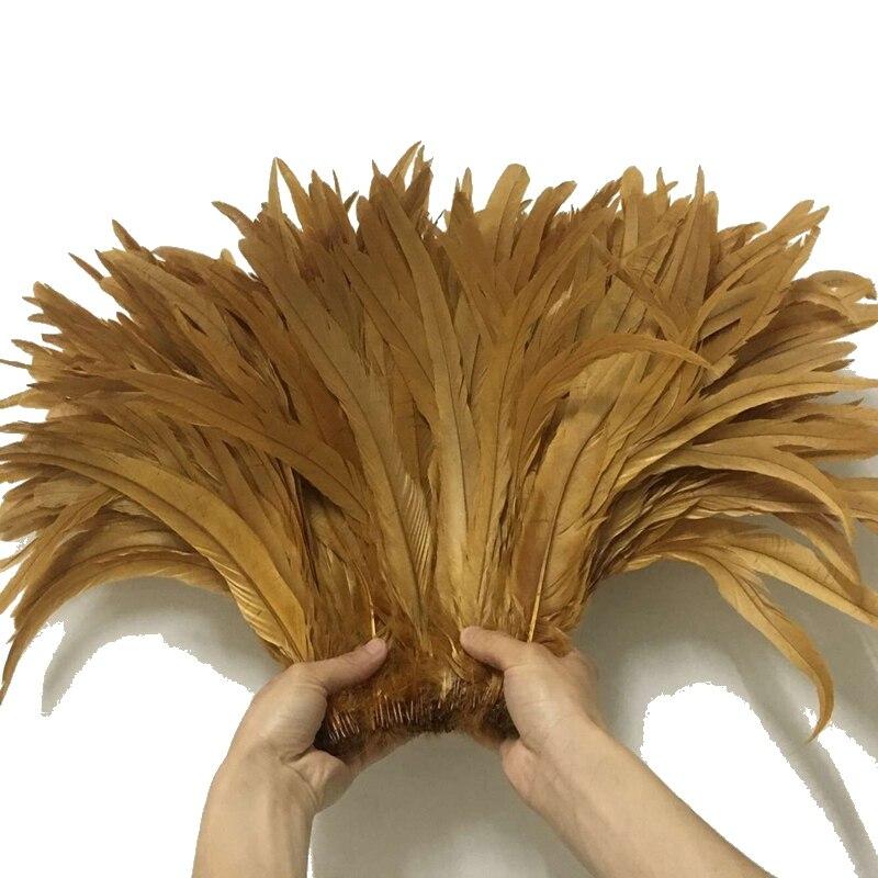 Or 500 pièces 19 couleurs belles plumes de coq 35 40 cm 14 16 pouces faisan naturel poulet Plume bricolage artisanat décoration-in Plume from Maison & Animalerie    1